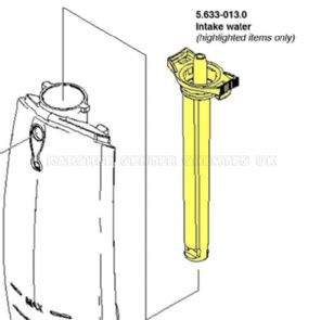 Karcher WV50 Window-Vac water intake tube